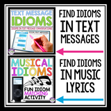 IDIOMS - ACTIVITIES, ASSIGNMENTS, POSTERS, TASK CARDS, & AWARDS BUNDLE