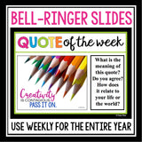 QUOTE OF THE WEEK POSTERS & ACTIVITIES