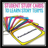 STORY ELEMENTS REVIEW CARDS & QUIZ