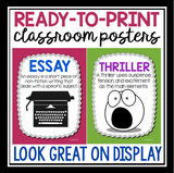 GENRES POSTERS: BACK TO SCHOOL CLASS SET UP