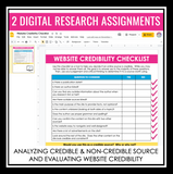 CREDIBLE SOURCES DIGITAL RESEARCH PRESENTATION AND ACTIVITIES