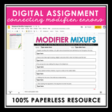 MISPLACED OR DANGLING MODIFIERS DIGITAL PRESENTATION AND ASSIGNMENTS