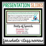 HALLOWEEN PARTS OF SPEECH TASK CARDS ACTIVITY