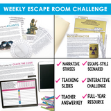 GRAMMAR CHALLENGE FULL YEAR PROGRAM  ESCAPE CHALLENGES  |  PRINT VERSION