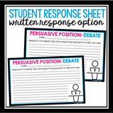 DEBATE BELL-RINGERS AND TASK CARDS ACTIVITY