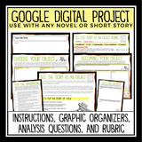 DIGITAL BOOK REPORT FOR ANY STORY - OBJECT POINT OF VIEW | DISTANCE LEARNING