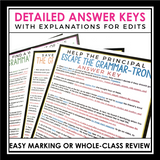 GRAMMAR WORKSHEETS: PUNCTUATION, SPELLING, CAPITALIZATION & MORE