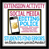 GRAMMAR ACTIVITY EDITING CELEBRITY SOCIAL MEDIA