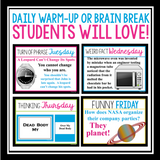 BRAIN BREAKS FOR MIDDLE SCHOOL (OR DAILY WARM UPS)