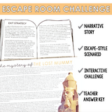 COMMAS WITH COORDINATING CONJUNCTIONS GRAMMAR ACTIVITY INTERACTIVE ESCAPE CHALLENGE