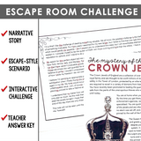 SEMI-COLONS GRAMMAR ACTIVITY INTERACTIVE ESCAPE CHALLENGE