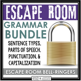 GRAMMAR ESCAPE ROOM BELL RINGER BUNDLE
