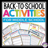 BACK TO SCHOOL ACTIVITIES AND ASSIGNMENTS