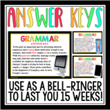 GRAMMAR BELL RINGERS PRESENTATION AND TASK CARDS