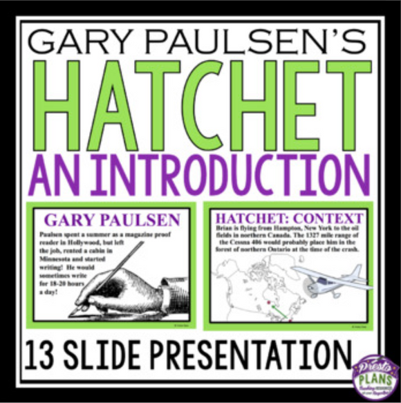 HATCHET INTRODUCTION PRESENTATION
