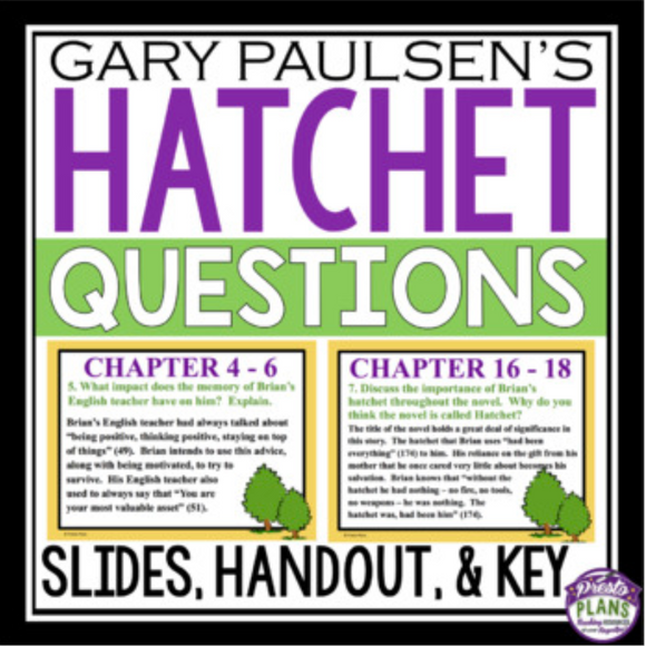 HATCHET QUESTIONS HANDOUTS AND PRESENTATION