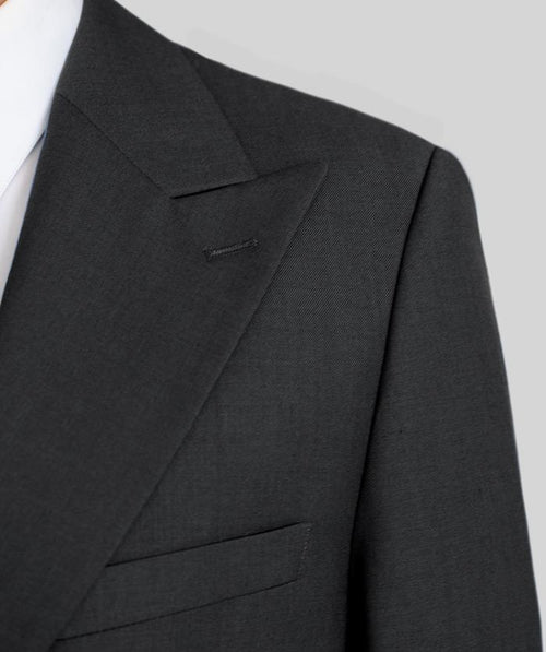 Charcoal Grey Two Button Wide Lapel Suit