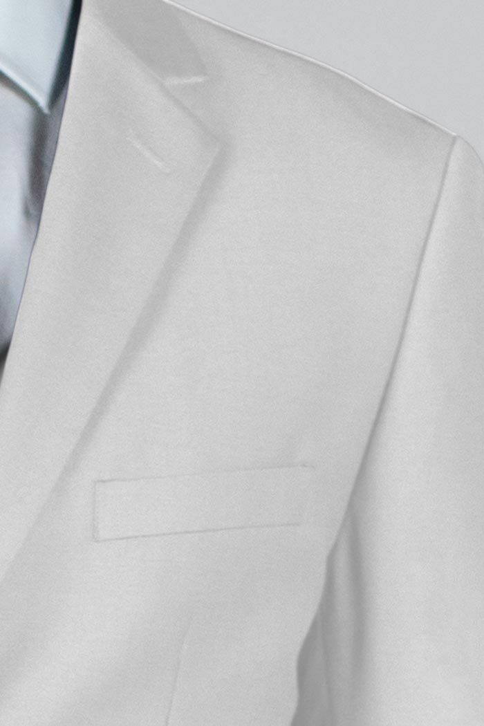 White Two Button Suit