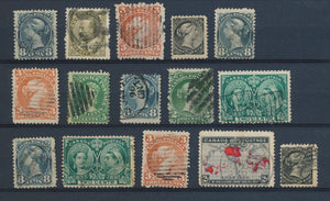 CANADA : Lot of 15 very old Stamps . Good used stamps High CV$400 A2063
