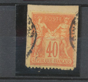 SAGE N°94 40c rouge-orange s. fragm. CAD Tunis TB B2199