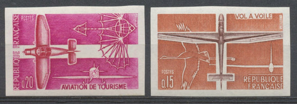 1962 France N°1340 + 1341 Aviation Non dentelés Neuf luxe** COTE 125€ D1521