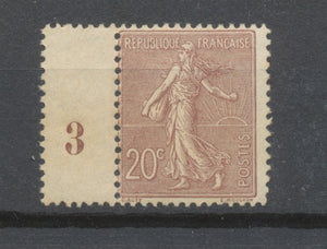 FRANCE N°131 20c brun-lilas NEUF LUXE ** Signé CALVES COTE 190€ P1952