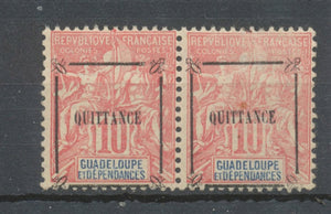PAIRE GUADELOUPE QUITTANCE TIMBRE-POSTE n°41 10 . Neuf *. P5147