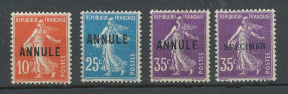 Lot de 4 cours d'instruction Semeuse N*. TTB. W1017