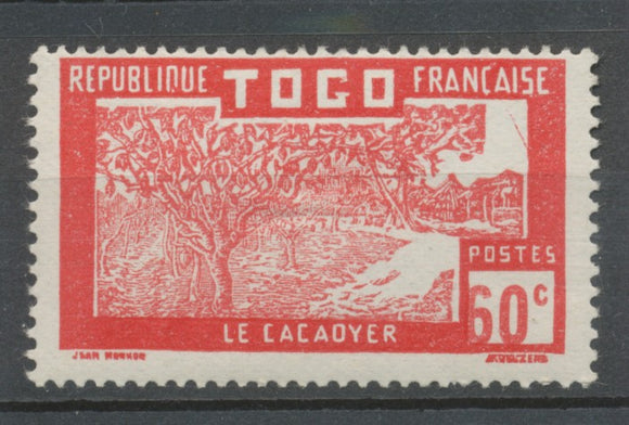 France Colonie TOGO N°81 60c rouge centre décalé Signé Calves. X3607