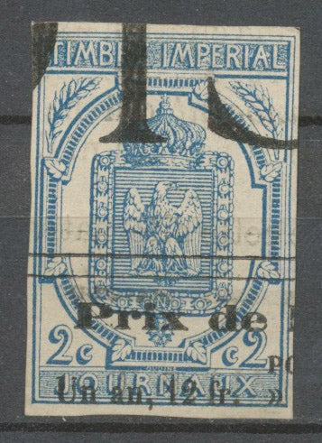 Timbre France JOURNAUX, 2c. Bleu ND obl. Typo, SUP X3964