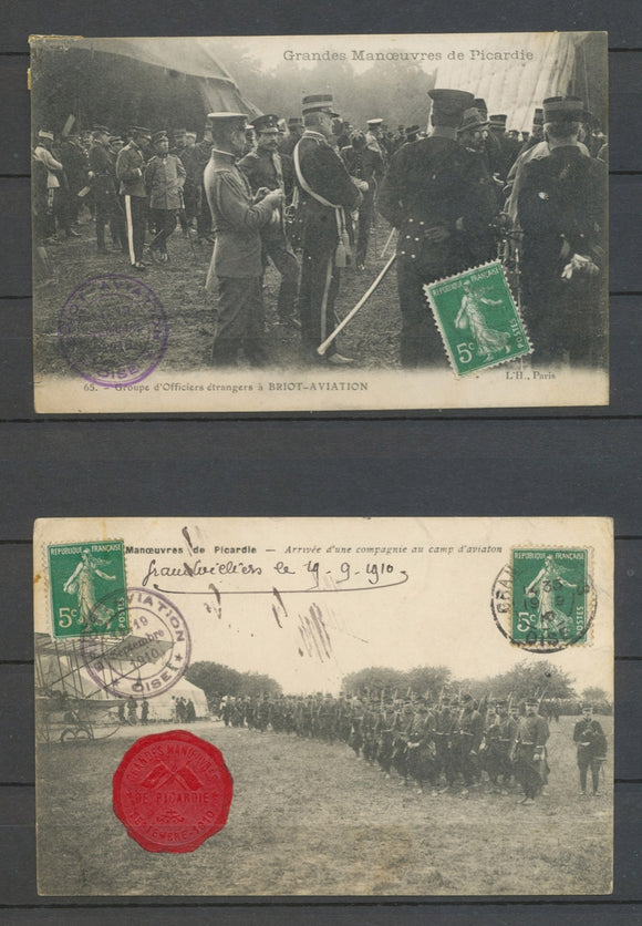 1910 4 CP BRIOT-AVIATION 14-19 Septembre, cachet rond, TB X5161