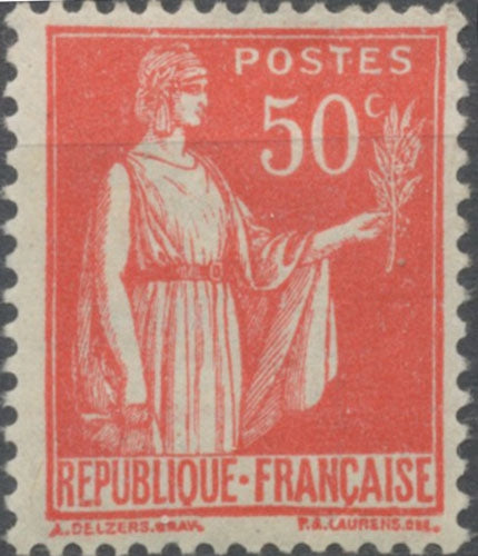 Type Paix. 50c. Rose-rouge (I) Neuf luxe ** Y283