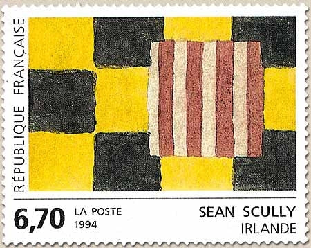 Série européenne d'art contemporain. Œuvre originale de Sean Scully (Irlande) 6f.70 multicolore Y2858