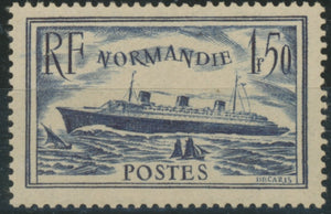 "Paquebot ""Normandie"" 1f.50 bleu  Neuf luxe ** Y299"