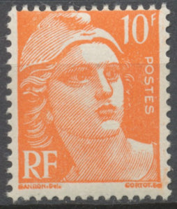 Marianne de Gandon 10f. Orange Neuf luxe ** Y722