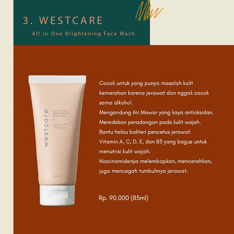 WESTCARE All in One Brightening Face Wash - beningbersinar