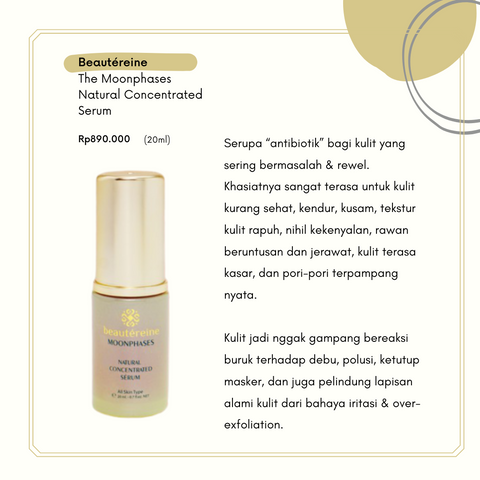 Beautéreine The Moonphases Natural Concentrated Serum - beningbersinar