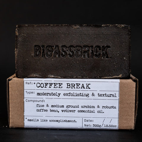 REVIEW Republic of Soap BIGASSBRICK Coffee Break sabun lokal vegan - BeningBersinar