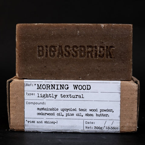 REVIEW Republic of Soap BIGASSBRICK morning wood sabun lokal vegan - BeningBersinar