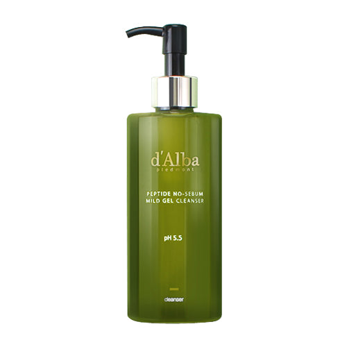 D'ALBA Peptide No-Sebum Mild Gel Cleanser