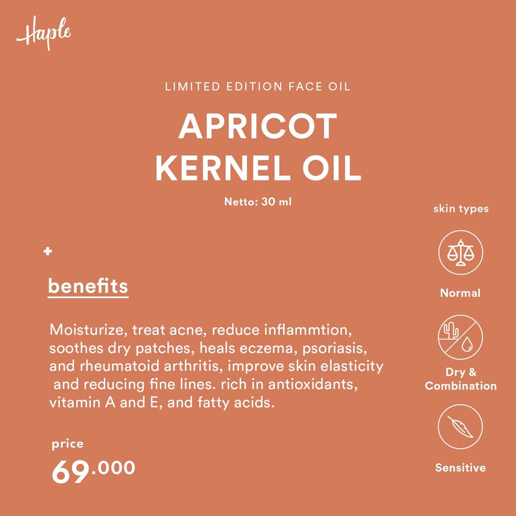 HAPLE Apricot Kernel Oil - Limited Edition
