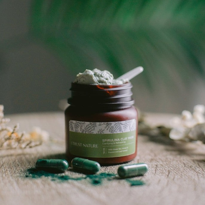 I TRUST NATURE Spirulina Clay Mask - Clarifying & Refreshing