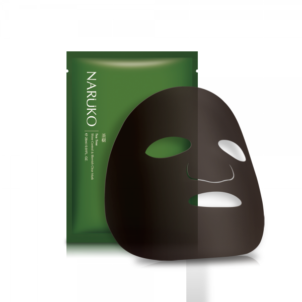 NARUKO Tea Tree Shine Control & Blemish Clear Mask - beningbersinar