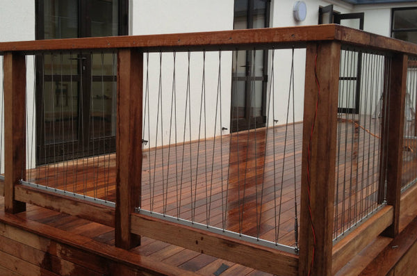 Stainless steel balustrading wire