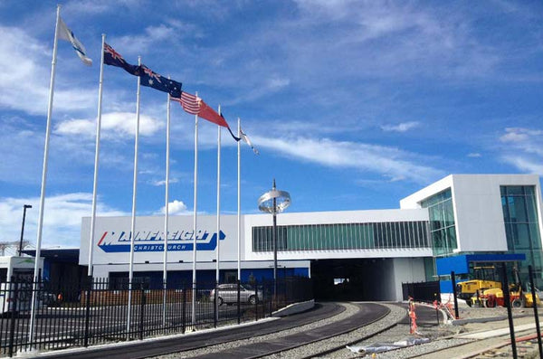 Flagpoles at Mainfreight