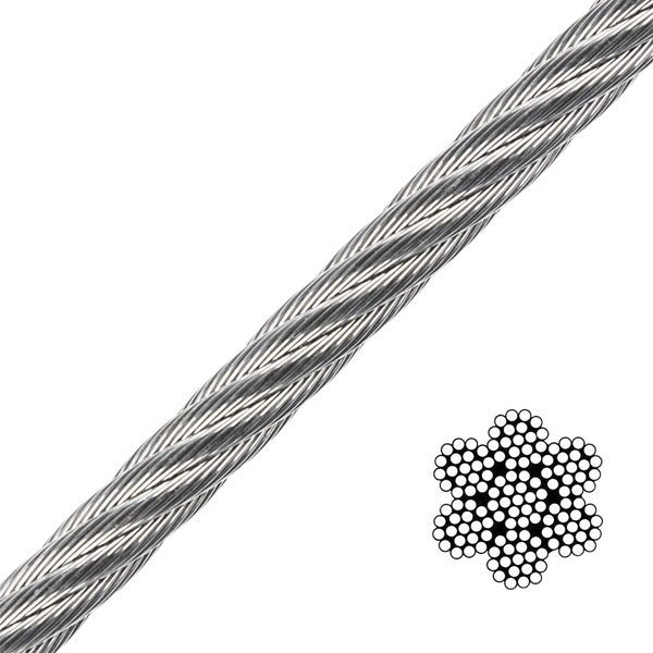 Stainless steel wire 7x19 strand