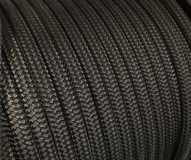 POLYESTER YACHTING DOUBLE BRAID - Black