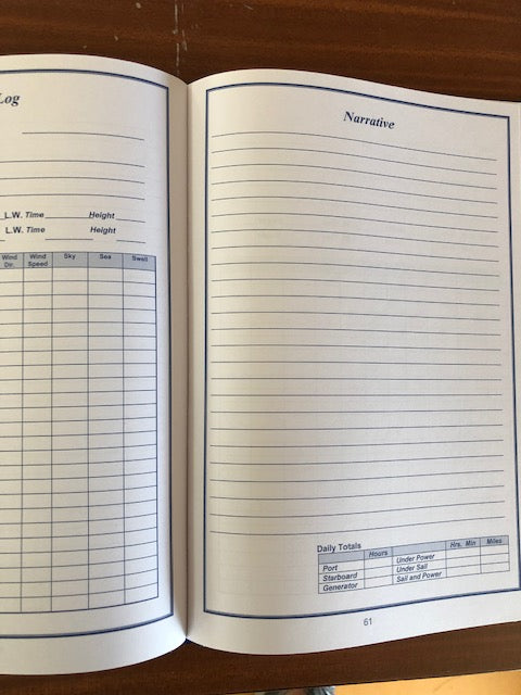 A Mariners Log Book - Hard cover