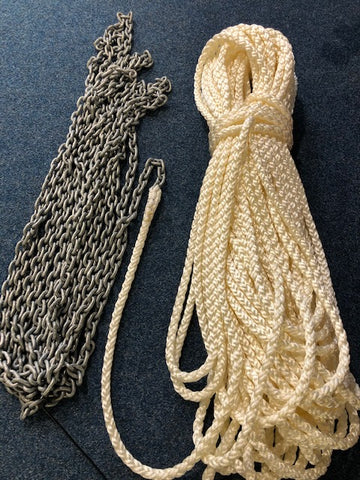 Anchor chain and rope splicing