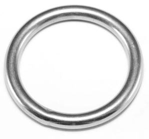 Stainless Round Ring 8x50mm
